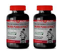 Men Fertility Supplement with Libido Booster – Muira PUAMA Extract 2200 Mg – Male Enhancement Pills – Brain Booster Pills – 2 Bottles 180 Capsules