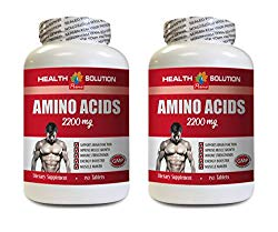 Workout Supplements for Men Muscle – Amino Acids 2200 Mg – Muscle Maker – Amino Acids Bodybuilding – 2 Bottles 300 Tablets