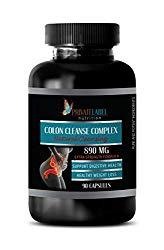 Colon Detox Pills Premium – Colon Cleanse Complex – Natural Cleansing – Ginger Root Pills – 1 Bottle 90 Capsules