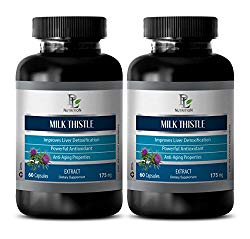 Kidney Support – MILK THISTLE SEED EXTRACT 175 – Milk thistle – 2 Bottle 120 Capsules