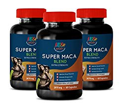 Men Sexual Stamina Supplement – Super MACA Blend 2070 MG – Extra Strength – yohimbe Supplement for Men – 3 Bottles 180 Capsules