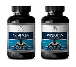 Muscle Booster for Men – Amino ACIDS Extra Strength 1000MG – l-tyrosine l-theanine – 2 Bottles 200 Capsules