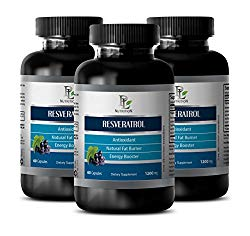 Prostate health – RESVERATROL – Grape seed extract – 3 Bottles 180 Capsules