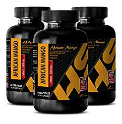 Weight loss supplements for men – AFRICAN MANGO EXTRACT – Natural fat burner pills – 3 Bottles 180 Capsules