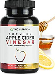 Apple Cider Vinegar Capsules Softgels with Cayenne, Lemon, Honey, 520mg Detox Cleanse Drink-in-a-Pill *