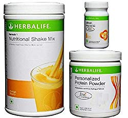 Herbalife Weight Loss Program Kit – Natural Organic Diet Meal Replacement Package for Men and Women – Nutritional Formula 1 Shake Mango – Herbal Protein Powder  – Afresh Energy Drink Mix Lemon