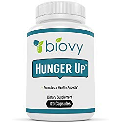 HUNGER UP™ – Best Appetite Stimulant by Biovy (with No Magnesium Stearate) – Effective Weight Gain Pills Including Fenugreek extract To Increase Appetite & Gain Weight In All The Right Places