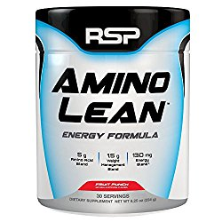 RSP AminoLean – All-in-One Pre Workout, Amino Energy, Weight Management Supplement with Amino Acids, Complete Preworkout Energy & Natural Weight Management for Men & Women, Fruit Punch, 30 Serv