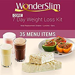WonderSlim Core 1 Week Diet Kit – Complete Weight Loss Package – Meal Replacements, Protein Supplements, Snacks and Lifestyle Guide