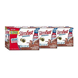 SlimFast Original Creamy Milk Chocolate Shake – Ready to Drink Weight Loss Meal Replacement – 10g of protein – 11 fl. oz. Bottle – 8 Count (Pack Of 3)