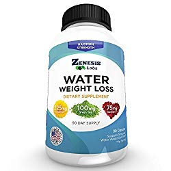 Water Pill Diuretic – Weight Loss – 90 Capsules (50% More Than Competitors)