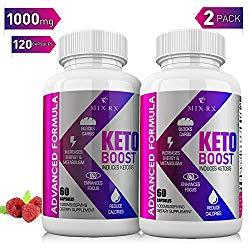 (2 Pack | 120 Capsules) Keto Pills with Carb Supplement – Exogenous Ketones – Ketosis Women Men – Health – BHB Salts