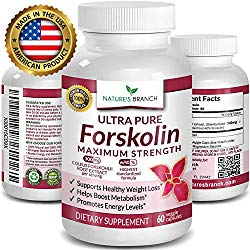 Premium 100% Ultra Pure Forskolin for Weight Loss Max Strength w/ 40% Standardized Coleus Forskohlii Root Extract Powder Belly Buster Supplement – Extreme Keto Advanced Boost Complex – 60 Diet Pills