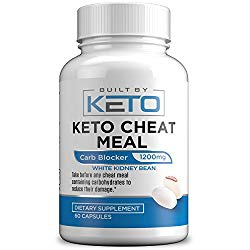 Carb Blocker – 1200mg White Kidney Bean Extract – Keto Cheat Meal – Best Carb, Starch, Fat Blocker for The Ketogenic Diet – Eat Carbs While on Keto – 60 Capsules – Built By Keto