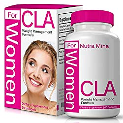 CLA for Women, Non-GMO Conjugated Linoleic Acid Derived from Safflower for Weight Loss and Exercise Support, 1000mg, Made in USA – 60 Capsules