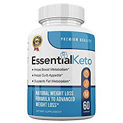 Essential Keto – Premium Quality – Boost Metabolism – Curb Appetite – Advanced Weight Loss Formula – 30 Day Supply – 60 Capsules