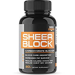 Extra Strength Carb Blocker – Healthy Weight Loss Support for Women and Men – White Kidney Bean and Green Tea Extract – Premium Non-GMO Diet Pills – 60ct – Block 2.0 from Sheer Strength Labs