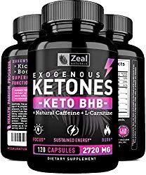 Keto BHB Exogenous Ketones Pills (2720mg | 120 Capsules) Keto Pills w. goBHB Salts, Natural Caffeine & L-Carnitine – Keto BHB Oil Capsules Beta Hydroxybutyrate for Weight Loss Keto Vitamins Keto Salts