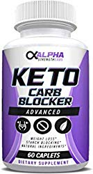 Keto Carb Blocker Weight Loss – Supplements for Women & Men – Diet Pills to Burn Fat Fast – All-Natural Ingredients – 60 Caplets