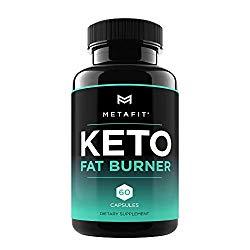 Keto Fat Burner Pills for Weight Loss – 60 Keto Burn Capsules – Ketosis Diet Supplement for Women & Men by METAFIT