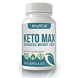 Keto Pills – Advanced Weight Loss Supplements w/carb Blocker – Keto Weight Loss Pills to Burn Fat Fast – Boost Energy and Metabolism – Amplicell Keto Diet Pills