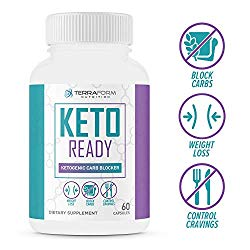 Keto Ready – Max Strength Keto Carb Blocker 1200mg – Burn Fat & Block Carb Absorption – Minimize Cheat Meals & Maintain Ketosis – White Kidney Bean Extract – for Men & Women – Made in USA – 60 Capsule