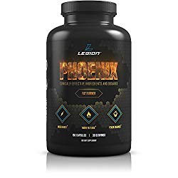 Legion Phoenix Fat Burner & Thermogenic Weight Loss Pill (Caffeine Free) Appetite Suppressant – 100% Natural & Scientifically Validated Formulation with Forskolin, Naringin, More – 30 Svgs
