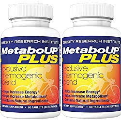Lipozene MetaboUP Plus – 2 60 Ct Bottles – Thermogenic Weight Loss Fat Burner With Green Tea and Cayenne Extract – Energy Booster Pills