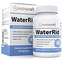 Natural Diuretic Water Pill with Dandelion and Potassium to Lose Water Weight and Bloating Relief – Premium Herbal Water Retention Supplement – 60 Capsules – Made in USA