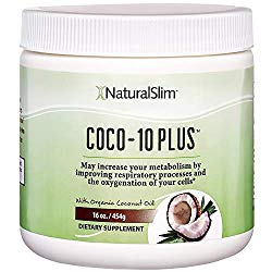 "NaturalSlim""Super"" Organic Coconut Oil with CoQ10, Formulated by Obesity and Metabolism Specialist to Improve Energy Levels and Assist with Weight Loss – Natural Fat Burner to Any Diet Attempt 16 Oz"
