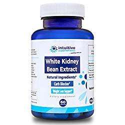 Pure White Kidney Bean Extract – Best Carb Blocker and Fat Absorber for Weight Loss Support – 100% Natural, Clinically Proven, Starch Intercept Supplement – 60 Gluten Free, Vegetarian/Vegan Diet Pills