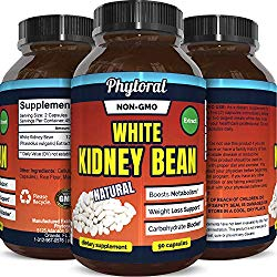 White Kidney Bean Supplement Pills Pure Extract Starch Carb Blocker Weight Loss Formula – Lose Belly Fat Suppress Appetite Boost Metabolism Natural Weight Loss for Men and Women