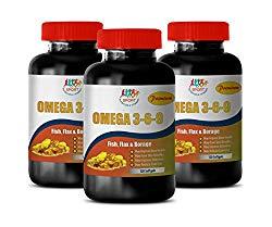 Anti inflammatory Supplement – Omega 3 6 9 Premium (Fish Flax Borage) – Flaxseed Omega 3 Supplement – 3 Bottles 360 Softgels