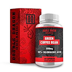 Double Dragon Organics :: Green Coffee Bean Extract – Energy Booster (30 Servings) :: 800MG | 50% Chlorogenic Acid :: 60 Capsules :: Natural, Pure, and Gluten Free
