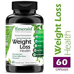 Emerald Laboratories – Weight Loss Health – with Green Coffee Bean Extract, Meratrim, and Konjac Root – Helps Reduce Body Fat, Increase Metabolism, Control Appetite – 60 Vegetable Capsules