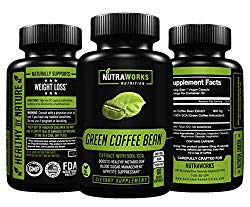Green Coffee Bean Extract with 50% GCA 800mg – 100% Pure with Antioxidants – 100% All Natural Weight Loss Supplement, Maintains Normal Blood Sugar Levels, Non-GMO, Gluten-Free – 60 Veggie Capsules