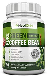 GREEN COFFEE BEAN EXTRACT with GCA, 800mg – 90 Vegetarian Capsules – Best Value For Price! – Highest Quality Pure Natural Coffee Extract for Weight Loss