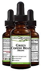 Green Organics Green Coffee Bean Liquid Extract Weight Loss Supplements | Suppresses Appetite | Boosts Metabolism | No Preservatives, No Additives | 100% Natural | 2 Fl Oz