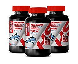 Immune System Support Supplement – Wild Alaskan Salmon Oil 2000 Mg Full Range – Omega 3 Salmon Oil – 3 Bottles 270 Softgels