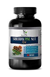 Immunity aid Essential Oil – Siberian Pine NUT Oil – Dietary Supplement – Energy Supplements for Women – 1 Bottle 60 Softgels