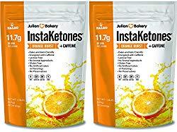 InstaKetones® 11.7g GoBHB® Per Scoop +Organic Caffeine (Orange Burst) (2 Pack) (+Caffeine) (60 Servings) Exogenous Ketones