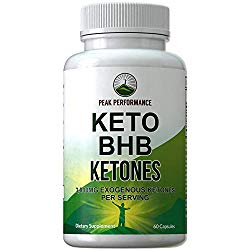 Keto BHB Exogenous Ketones Capsules by Peak Performance. Best Keto Diet Pills – 3000mg Unflavored Exogenous Ketone Salts Supplement. Best 3 Beta Hydroxybutyrate Forms for Maintaining Ketosis