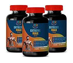 libido Booster for Men Sex – Extreme Male Pills – Extra Strength – Muira puama Herbal Supplements – 3 Bottles 180 Tablets