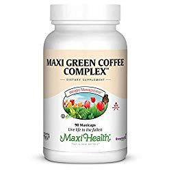 Maxi Health Kosher Green Coffee Bean Complex with Green Tea Extract Diet Support Capsules, 90 Count