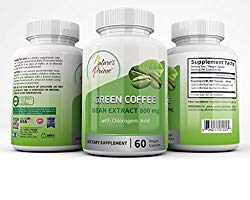 Nature's Prime Green Coffee Bean Extract 800 mg – Veggie Capsules – Kosher, Halal – All Natural Weight Loss, 60 count – LIMITED TIME PROMOTION!!