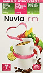 Nuvia Trim – Gourmet Instant Coffee for Weight Loss, with Garcinia Cambogia, Raspberry Ketones and Green Coffee Bean Extract, Vegan, No Sugar or Dairy, Great for Iced Coffee, 0.15oz packets(30 ct.)