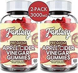 (2 Pack | 120 Gummies) Organic Apple Cider Vinegar Gummies with The Mother – Gummy Alternative to Apple Cider Vinegar Capsules, Pills, ACV Tablets