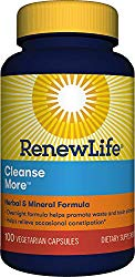 Renew Life  Adult Cleanse – Cleanse More, Herbal & Mineral Formula – Gluten, Dairy & Soy Free – 100 Vegetarian Capsules