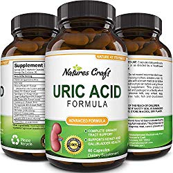 Uric Acid Kidney Support Vitamins for Men and Women – Herbal Cleanse Detox for Joint Pain Swelling & Stiffness Pure Tart Cherry Milk Thistle and Bromelain – Antioxidant Dietary Supplement for Health
