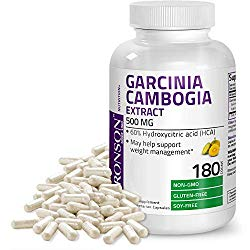 Garcinia Cambogia Extract Premium Weight Management Supplement – Standardized Hydroxycitric Acid (HCA) Vegetarian Capsules – Natural Appetite Suppressant – Non GMO Gluten Free Soy Free – 180 Count